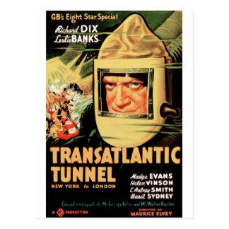 Tunnel transatlantique carte postale