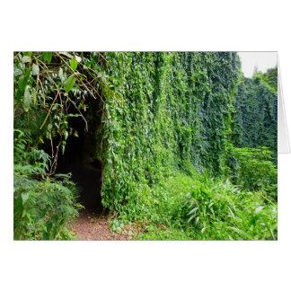 Tunnel tropical de vigne carte de vœux