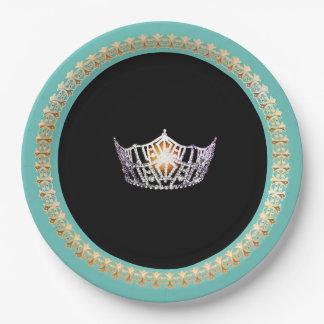 """Turquoise 9"""" de Mlle Amérique plaques à papier Assiettes En Papier"""