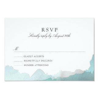 Turquoise débonnaire RSVP Carton D'invitation 8,89 Cm X 12,70 Cm