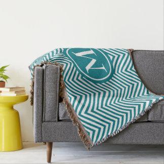 Turquoise décorée d'un monogramme et couverture