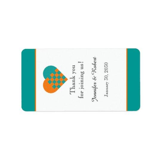 Turquoise et étiquette orange de baume à lèvres de
