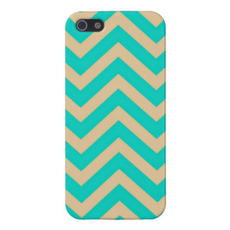 Turquoise Girly Chevron Étuis iPhone 5