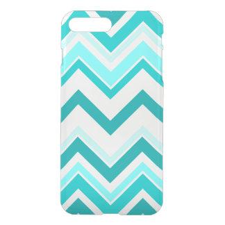 Turquoise, menthe et motif blanc de Chevron Coque iPhone 7 Plus