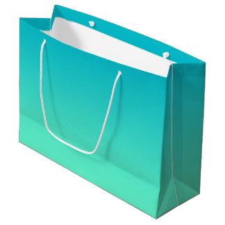 Turquoise Ombre Grand Sac Cadeau
