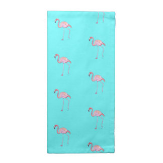 Turquoise rose de flamant de serviettes de tissu