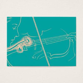 Turquoise vintage de musique de microphone de cartes de visite