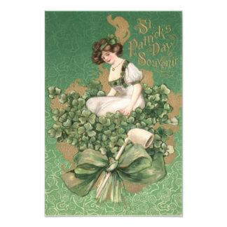 Tuyau d'argile irlandais de shamrock d'arc de vert photos d'art