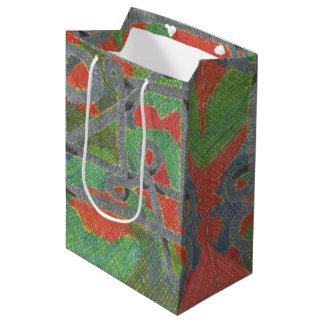 Tuyaux Twisty sur le sac moyen de cadeau de