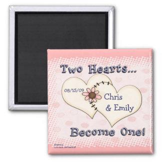 Twee Gelukwensen van het Huwelijk van Harten, Magneet