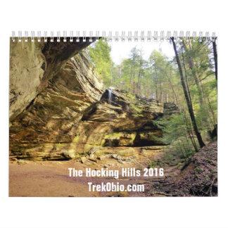 Twee-pagina, Middelgrote Kalender - Hocking