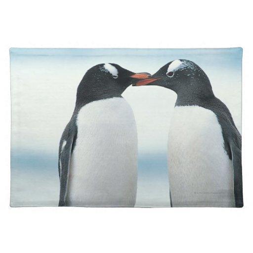 Twee Pinguïnen wat betreft bekken Onderlegger