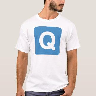 Twitter emoji letter Q T Shirt