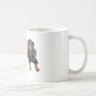 two rottweilers, tasse à café