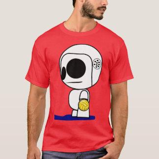 Type de bande dessinée de joueur de polo d'eau t-shirt