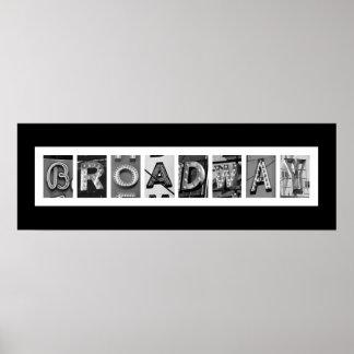 Typographie architecturale de BROADWAY Poster