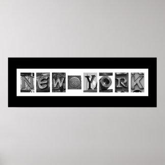 Typographie architecturale de NYC