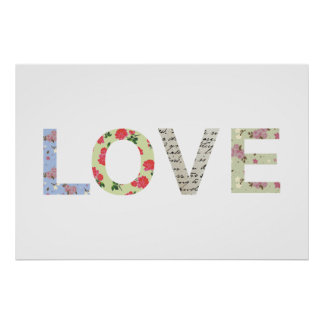 Typographie chic minable d'amour - blanc
