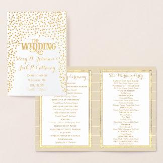 Typographie de confettis de PROGRAMME de MARIAGE
