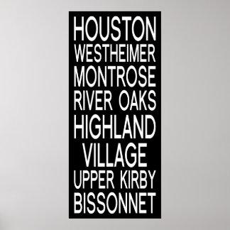 Typographie de Houston |