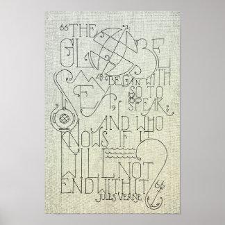 Typographie de Jules Verne