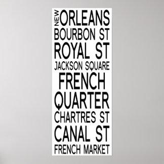 Typographie de la Nouvelle-Orléans |