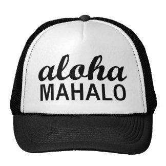 Typographie de Mahalo de classique Aloha Casquettes