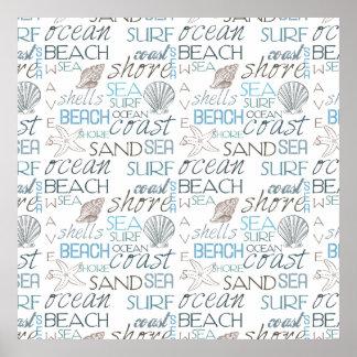 Typographie de plage