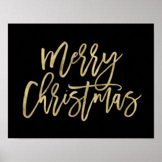 Typographie d'or de Faux du Joyeux Noël | sur le