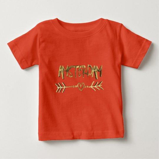 Typographie néerlandaise de regard d'or d'amour t-shirt pour bébé
