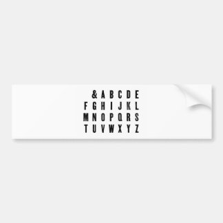 Typographie noire et blanche autocollant de voiture