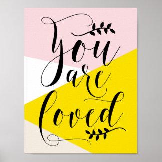 U bent Gehouden van Moderne Kalligrafie   Poster