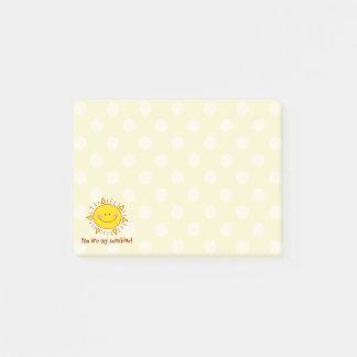 U bent Mijn Gelukkige Leuke Zonnige Dag Smiley van Post-it® Notes