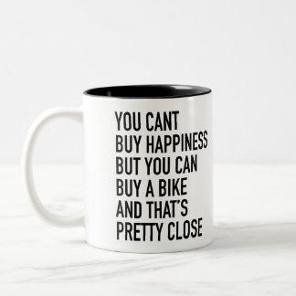 """""""u kunt geen geluk kopen. """"Mok door Velo Atelier Tweekleurige Koffiemok"""