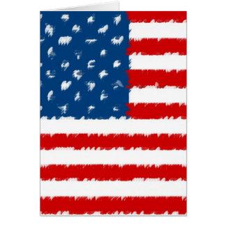 U.S.A. Drapeau Carte