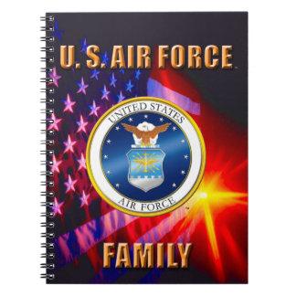 U.S. Carnet de photo de spirale de famille de