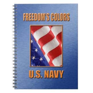 U.S. Carnet en spirale de photo de marine