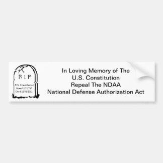 U.S. Constitution Autocollant De Voiture