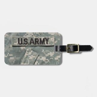 U.S. Étiquette de bagage d'armée avec le bracelet Étiquette À Bagage