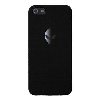 UFO étranger de cas d'Iphone 5 de noir de logo Étuis iPhone 5