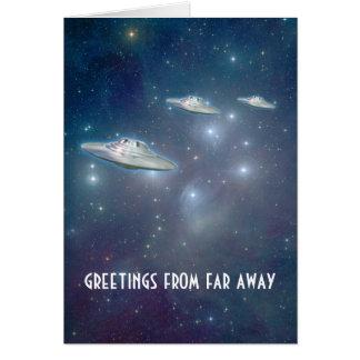 """UFO """"loin"""" carte de voeux"""