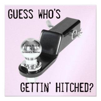 "Uitnodiging - Huwelijk - ""Hitched """