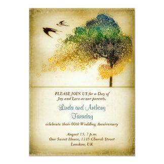 uitnodiging van de het huwelijksverjaardag van de  12,7x17,8 uitnodiging kaart