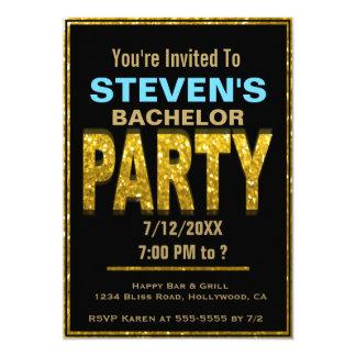 Uitnodiging | van de Partij van de vrijgezel Goud