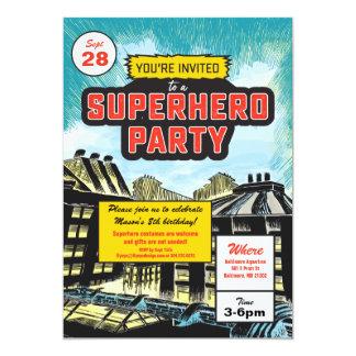 Uitnodiging van de Partij van Superhero de