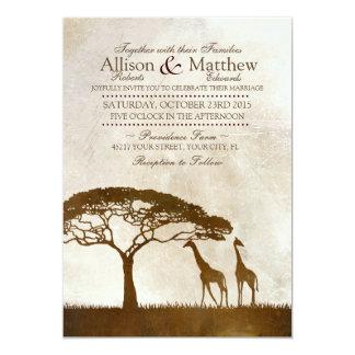 Uitnodiging van het Huwelijk van de bruine en