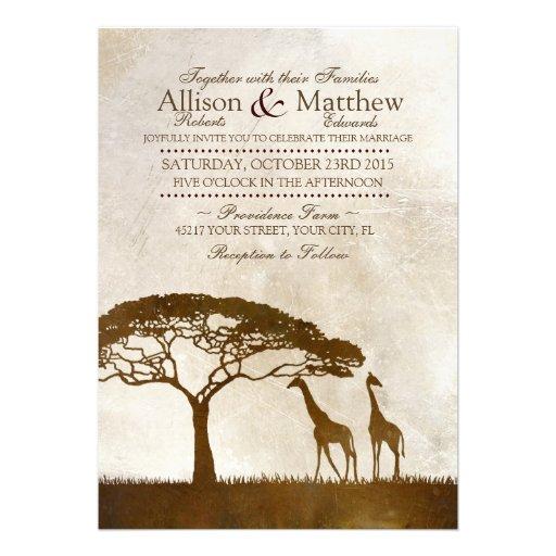 Uitnodiging van het Huwelijk van de bruine en Gira