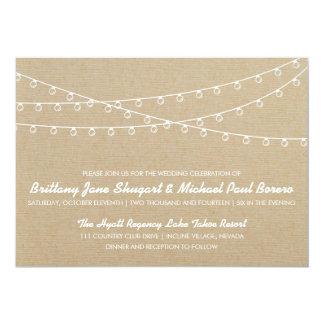 Uitnodiging van het Huwelijk van rustieke Lichten
