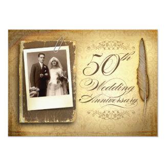 uitnodigingen van de vintage foto de fancy 50
