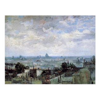 Uitzicht van de Daken van Parijs, Vincent van Gogh Wenskaart